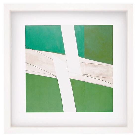 Sandra Blow Green and White (framed print)
