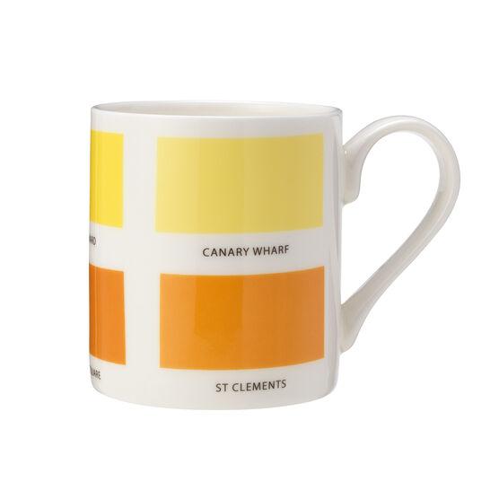 The Colours of London yellow mug