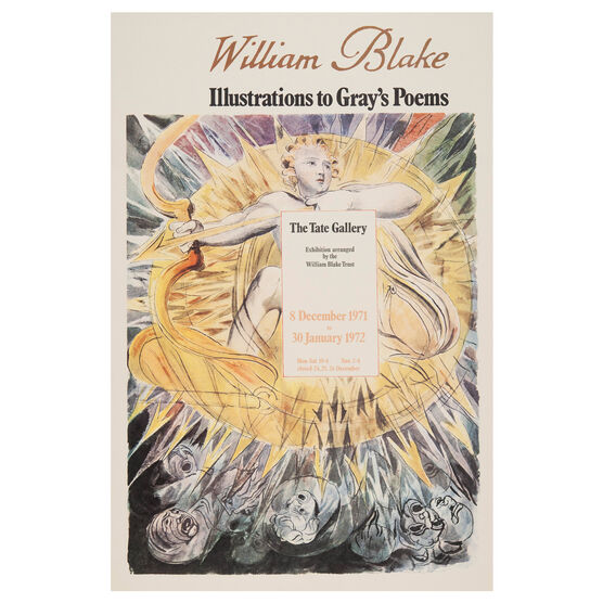 William Blake 1971 vintage poster