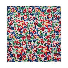 Patrick Heron Multicolour silk pocket square