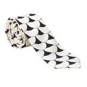 Tate Britain scallop tile silk tie