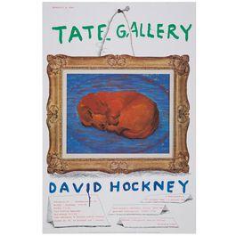 David Hockney: 1988 vintage poster