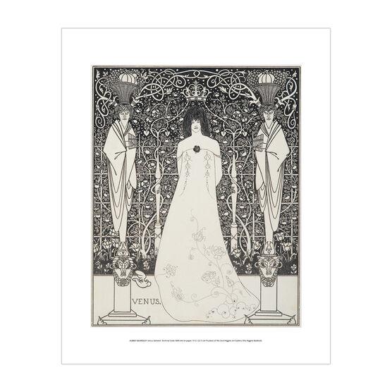 Aubrey Beardsley: Venus between Terminal Gods mini print