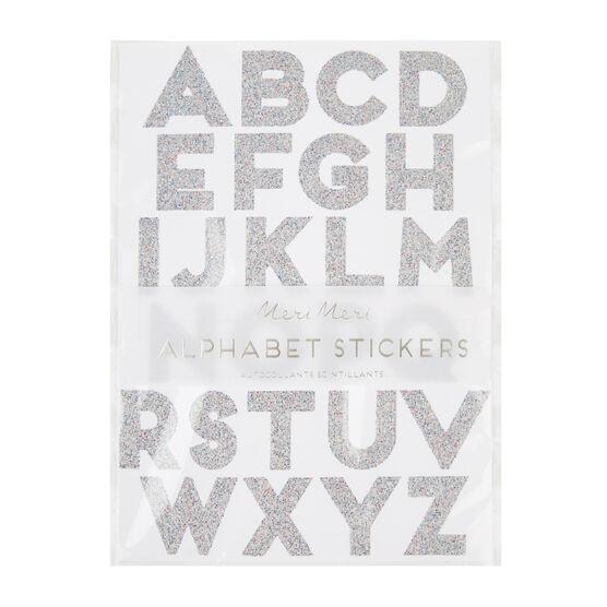 Large glitter alphabet stickers