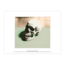 Andy Warhol: Skull (white) exhibition print