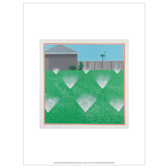 David Hockney A Lawn Being Sprinkled  (exhibition print)