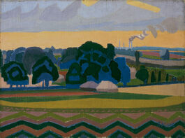 Spencer Gore: The Beanfield, Letchworth