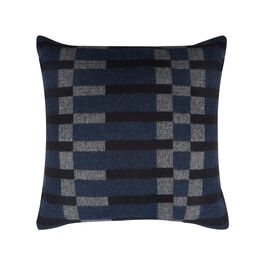 Eleanor Pritchard navy block cushion