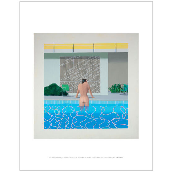 David Hockney Peter getting Out of Nick's Pool (mini print)