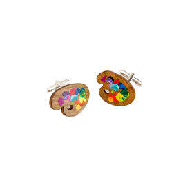 Paint palette cufflinks