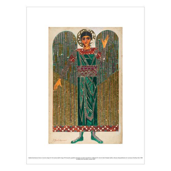 Natalia Goncharova: Cherub. Costume design for Liturgy exhibition print