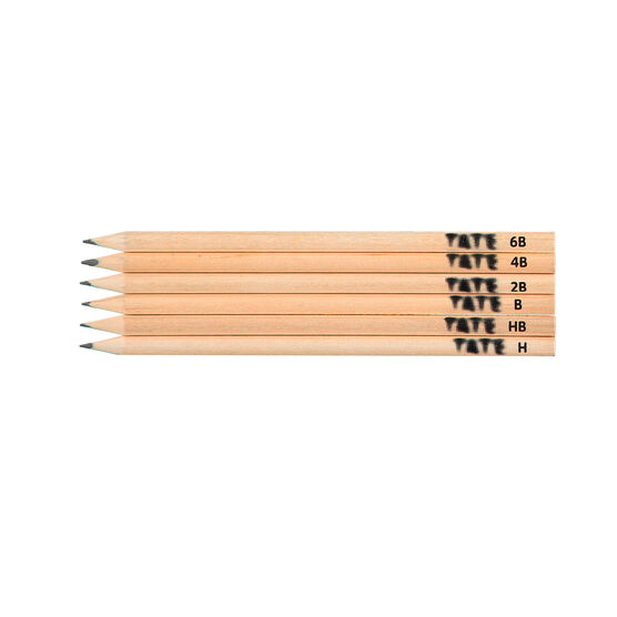 Tate art materials set of 6 sketching pencils