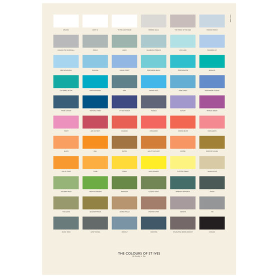 The Colours of St Ives poster