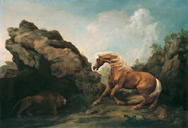 George Stubbs: Horse Frightened by a Lion