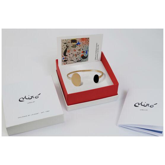 Joan Miró black and gold bracelet