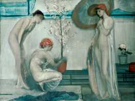 Whistler: Three Figures, Pink and Grey