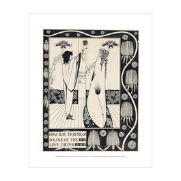 Aubrey Beardsley: How Sir Tristram Drank of the Love Drink mini print