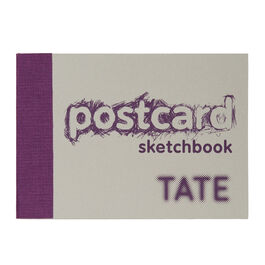 A6 postcard sketchbook purple