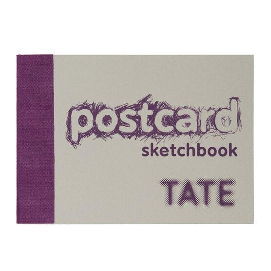 A6 postcard sketchbook purple