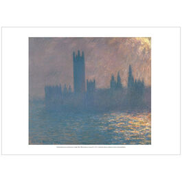 Monet: Houses of Parliament, Sunlight Effect (poster)