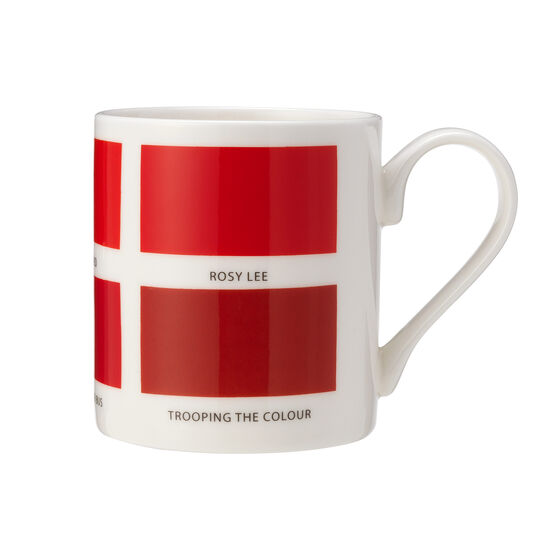 The Colours of London red mug