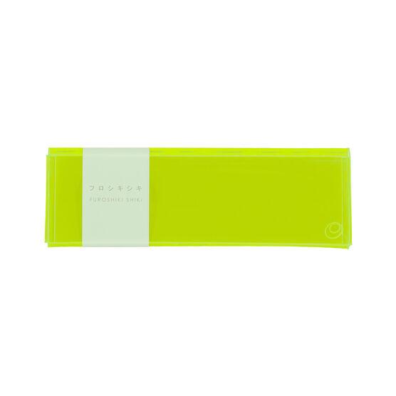 Furoshiki Shiki fluorescent yellow pencil case