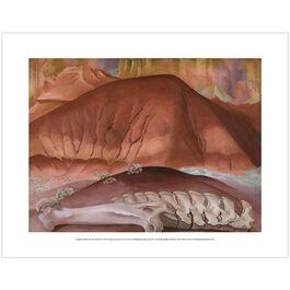 Georgia O'Keeffe: Red Hills and Bones mini print