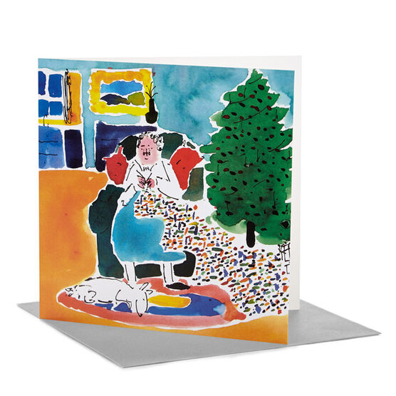 Tate RCA Christmas card William Davey - Grans knitwear (Pack of 6)