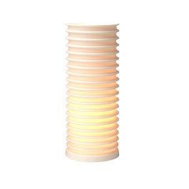 Insulator tall porcelain table lamp