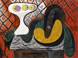 Pablo Picasso: Still Life with Fruit Bowl and Mandolin