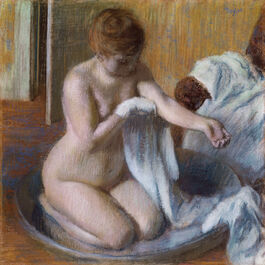 Edgar Degas: Woman in a Tub