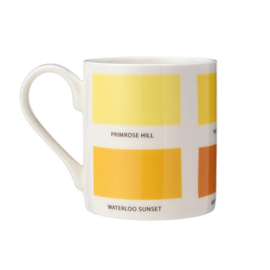 The Colours of London yellow mug back