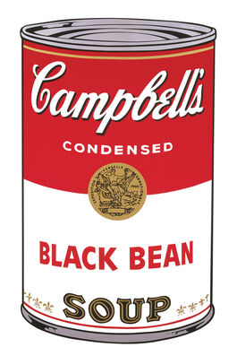 Andy Warhol: Campbell's Soup I: Black Bean