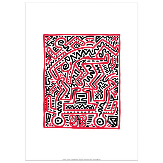 Keith Haring: Fun Gallery exhibition poster
