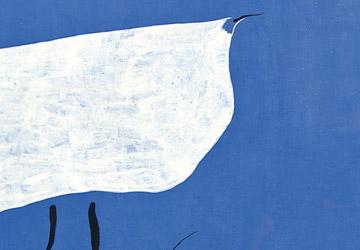 Blue colour art prints