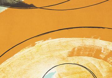 Orange colour art prints